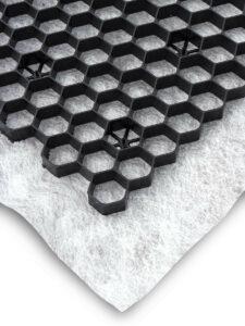 eergravel zwart met doek