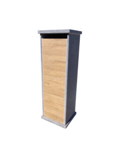 lhotse parcel woodlook digital lock vasp brievenbus