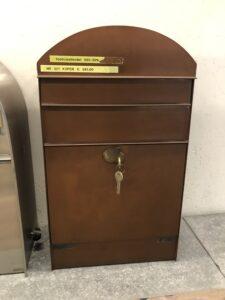 koper brievenbus toonzaalmodel
